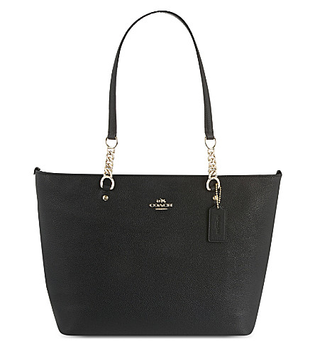 COACH Sophia leather tote (Black