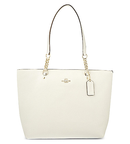 COACH Sophia leather tote (White