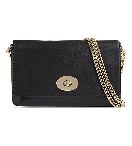 COACH Crosstown leather cross-body bag (Black