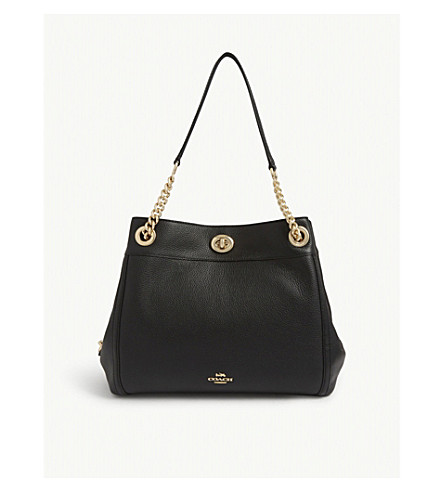 COACH Edie leather shopper (Black