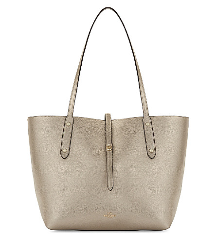 COACH Market leather tote (Li/platinum grey birch