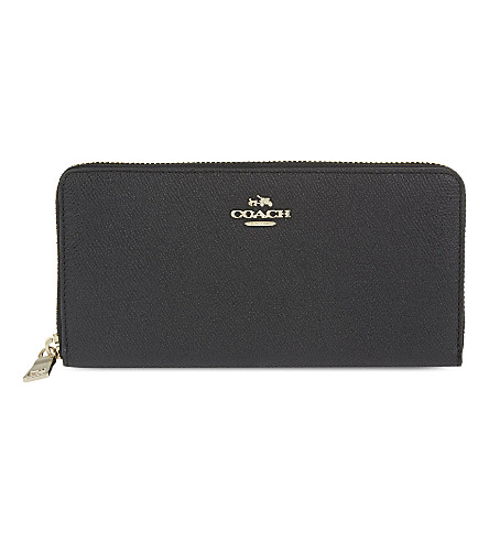 COACH Accordion leather zip wallet (Li/black