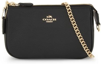 Nolita Leather Clutch in Black