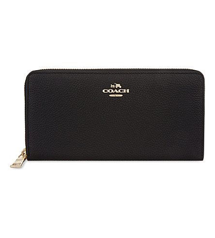 COACH Accordion zip-around leather wallet (Li/black
