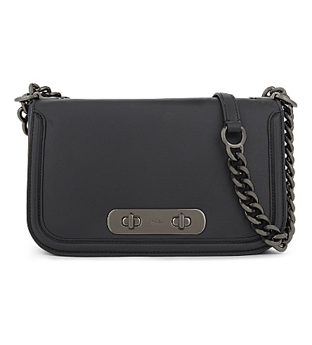 COACH Swagger leather shoulder bag (Dk/black