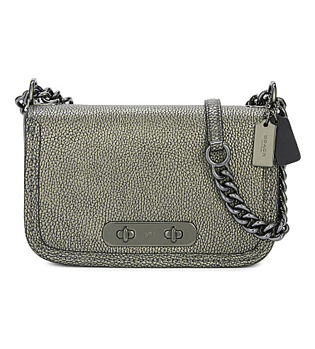 COACH Swagger leather shoulder bag (Dk/gunmetal