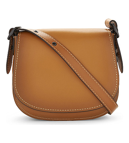 COACH Glovetanned leather saddle bag 23 (Butterscotch