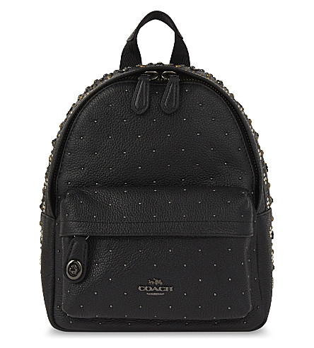 COACH Mini campus leather backpack (Dk/black