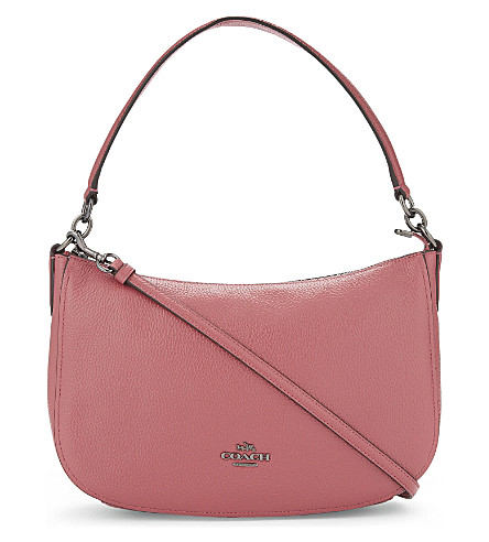 COACH Chelsea leather cross-body bag (Dk/rouge