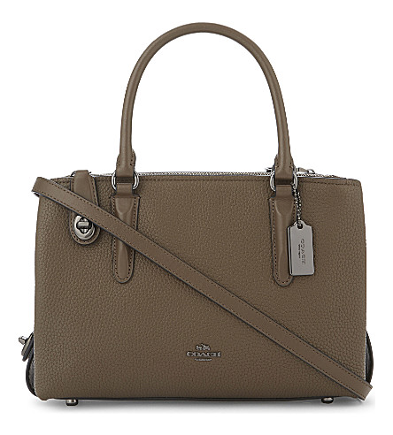 COACH Brooklyn 28 leather shoulder bag (Dk/fatigue