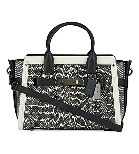 COACH Swagger 27 leather tote (Dk/chalk black