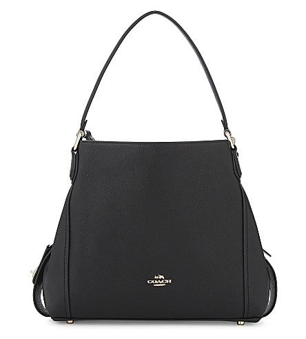 COACH Edie 31 leather shoulder bag (Li/black
