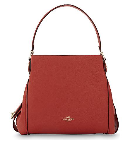 COACH Edie 31 leather shoulder bag (Li/deep coral