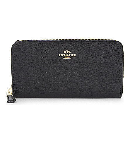 COACH Zip-around leather wallet (Li/black