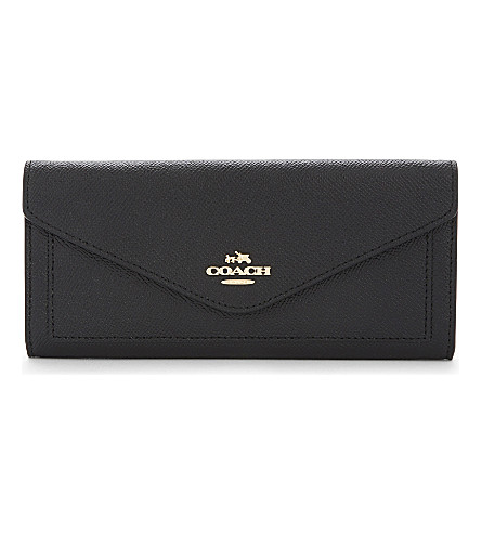 COACH Leather envelope wallet (Li/black