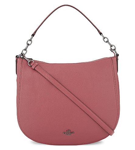 COACH Chelsea 32 grained leather hobo (Dk/rouge