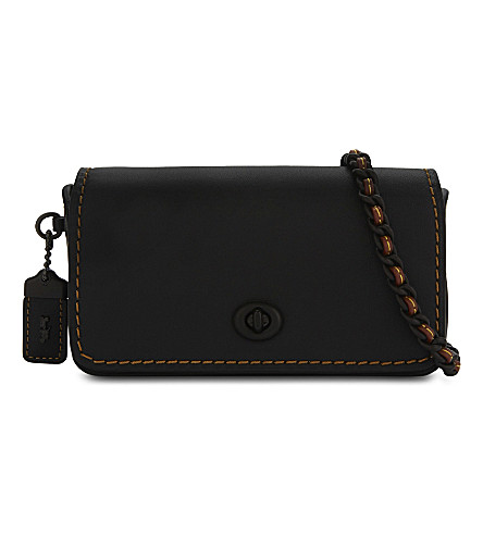 COACH Dinkier glovetanned leather cross-body bag (Black