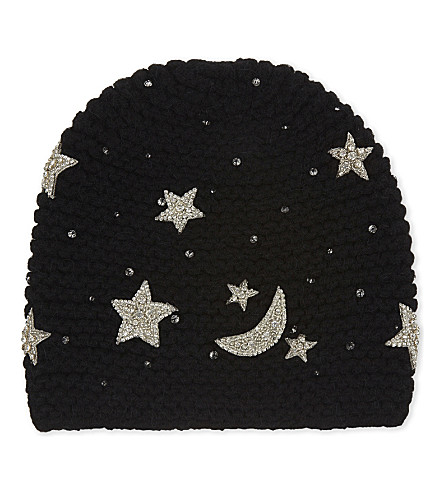 JENNIFER BEHR Luna embellished star beanie (Black