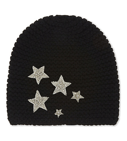 JENNIFER BEHR Galaxy glitter star beanie (Black