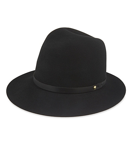 RAG & BONE Floppy brim wool felt fedora (Black