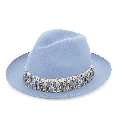 SUPER DUPER HATS Lapin wool fedora hat (Light blue