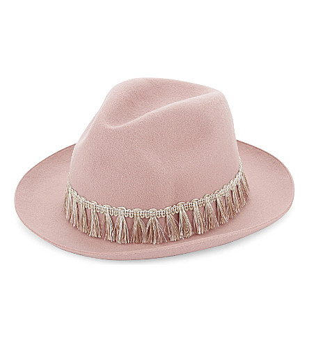 SUPER DUPER HATS Lapin wool fedora hat (Light pink