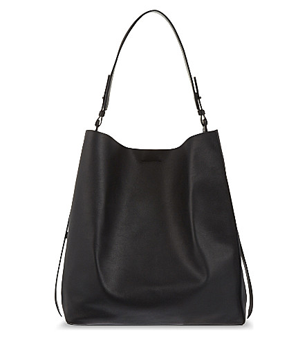 ALLSAINTS Paradise North South leather tote (Black