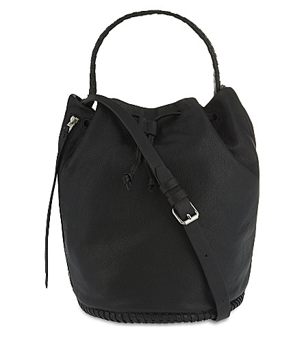 ALLSAINTS Club leather bucket bag (Black