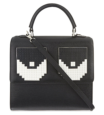 LES PETITS JOUEURS Alex Tromp L'Oeil leather bag (Black/white