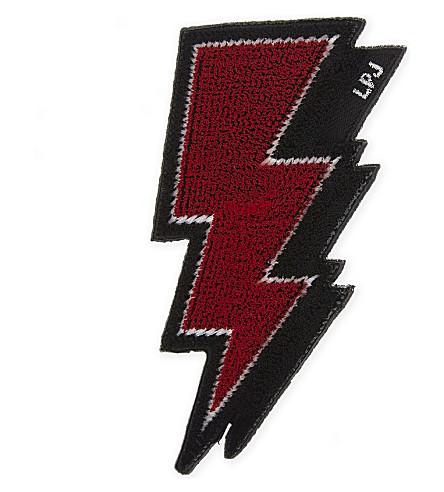 LES PETITS JOUEURS Lightning bolt sticker (Multi