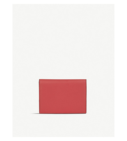 LES PETITS JOUEURS Fold-over leather cardholder (Red
