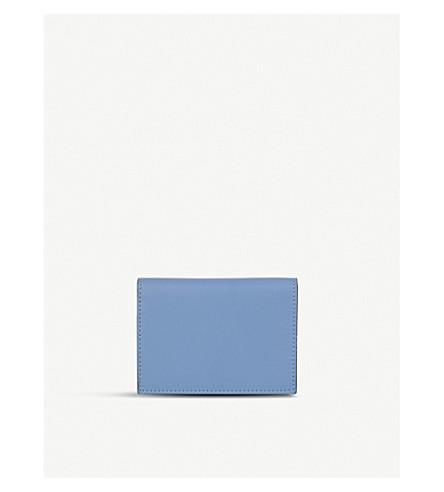 LES PETITS JOUEURS Fold-over leather cardholder (Blue
