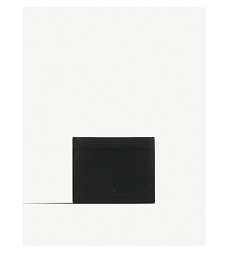 LES PETITS JOUEURS Open leather cardholder (Black