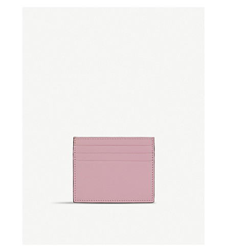 LES PETITS JOUEURS Open leather cardholder (Pink