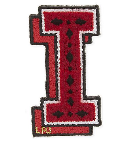 LES PETITS JOUEURS Letter I small patch sticker (Multi