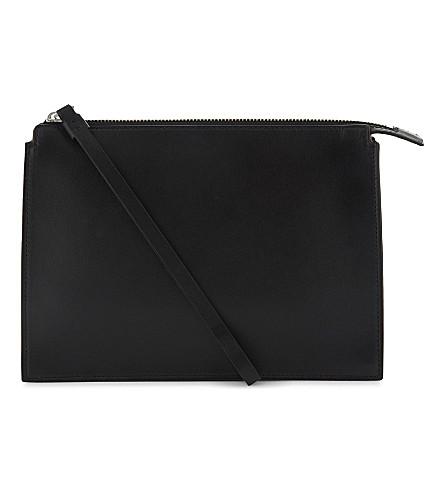 LES PETITS JOUEURS Jack leather pouch (Black