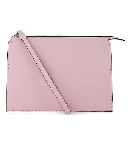LES PETITS JOUEURS Jack leather pouch (Pink