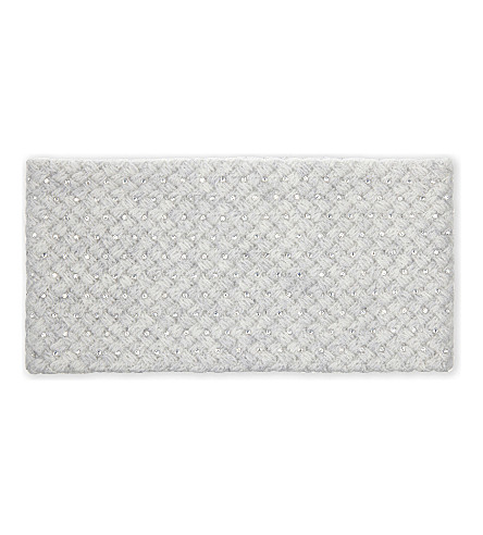 WILLIAM SHARP Crystal embellished headband (Silver haze