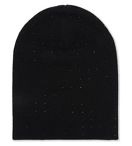 WILLIAM SHARP Crystal embellished slouch hat (Black