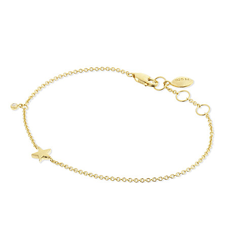 MISSOMA LTD Star 18ct gold vermeil bracelet (Gold