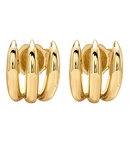 MISSOMA LTD Claw Jackets 18ct Gold Vermeil Stud Earrings (Gold