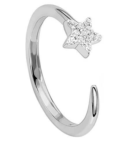 MISSOMA LTD Nova Sterling Silver Pave Cosmic Ring (Silver