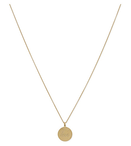 MISSOMA LTD Love disc Include 18ct Gold Vermeil necklace (Gold