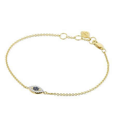 MISSOMA LTD 18ct gold vermeil evil eye bracelet (Gold