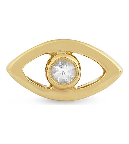 MISSOMA LTD Evil eye topaz single stud earring (Gold