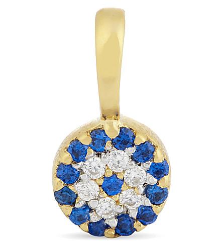 MISSOMA LTD Evil eye 18ct gold vermeil talisman pendant (Gold