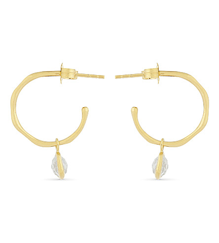 MISSOMA LTD 18ct gold vermeil hoop earrings (Gold