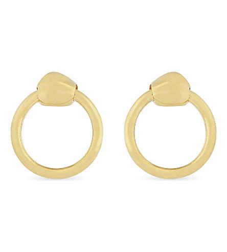 MISSOMA LTD Gold nugget hoop stud earrings (Gold