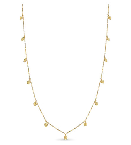 MISSOMA LTD Long 18ct gold vermeil nugget necklace (Gold