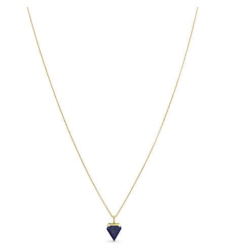 MISSOMA LTD Lapis hamza necklace (Gold